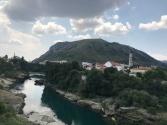 Pemandangan Mostar dan Sungai Neretva